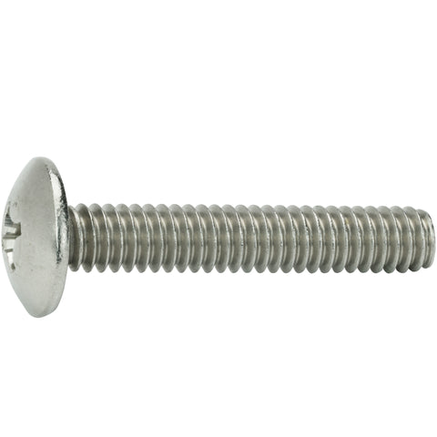 "5/16-18 x 1-1/2"" Phillips Truss Head Machine Screws Stainless Steel 18-8 Qty 25"