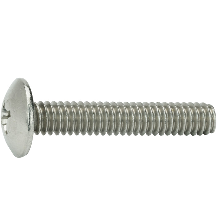 "4-40 x 1-1/2"" Phillips Truss Head Machine Screws Stainless Steel 18-8 Qty 100"
