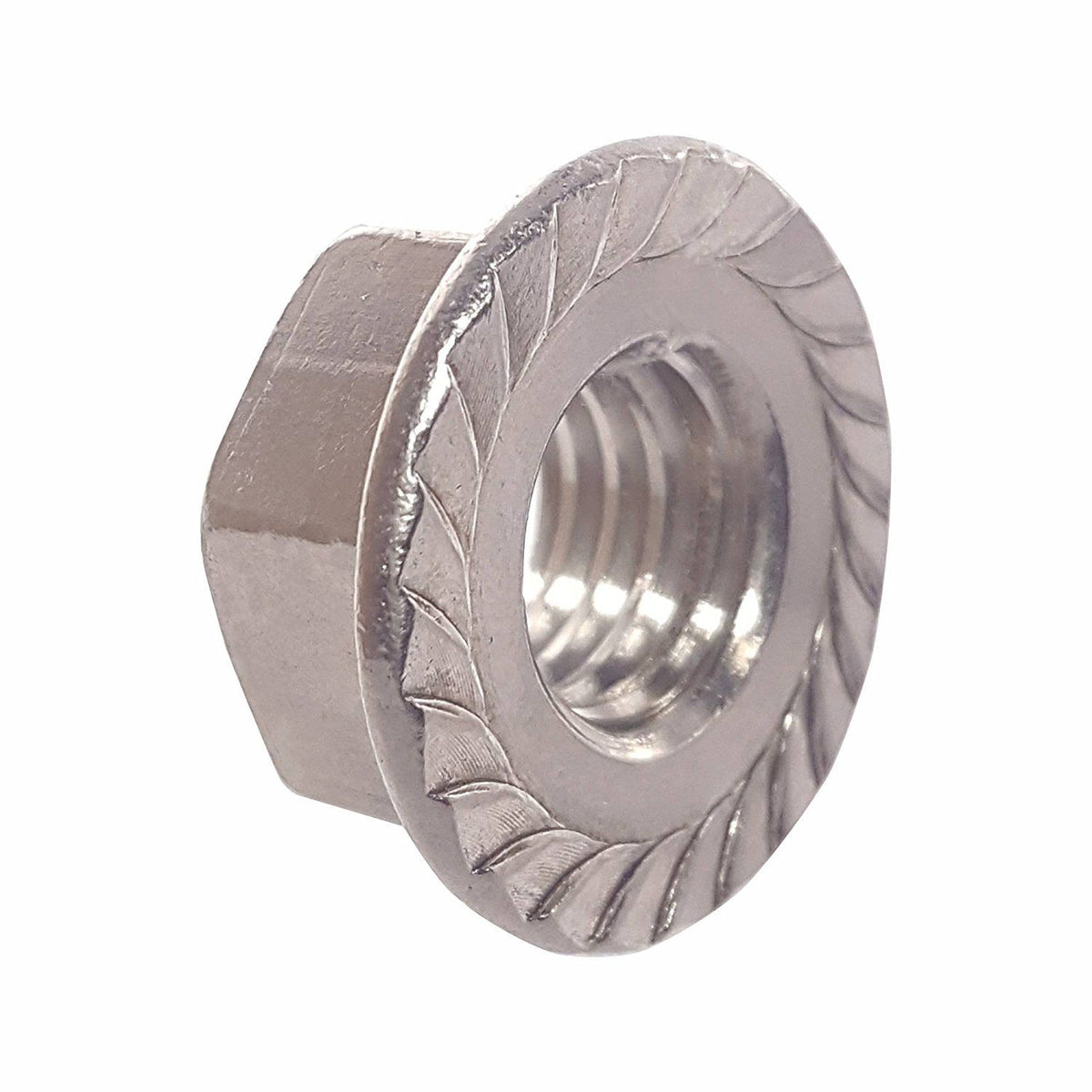 Fastenere 1 4 20 Serrated Flange Lock Nuts Stainless