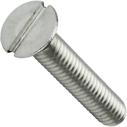"1/2-13 x 3-1/2"" Flat Head Machine Screws Stainless Steel 18-8 Qty 5"