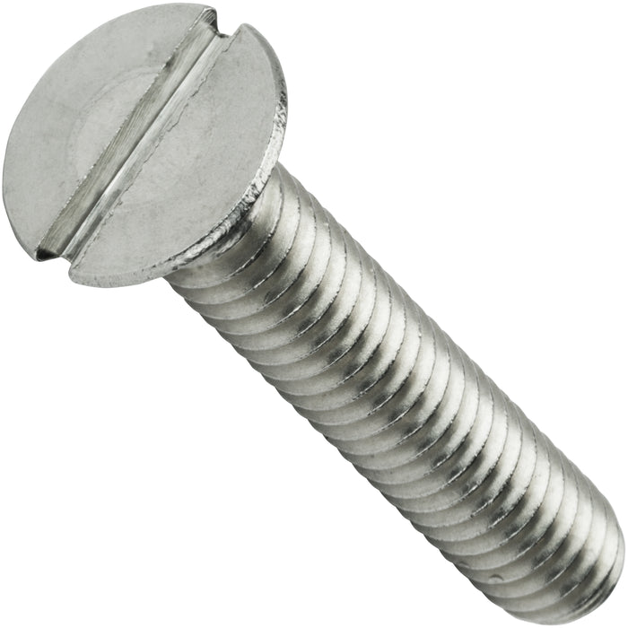 "3/8-16 x 2-1/2"" Flat Head Machine Screws Stainless Steel 18-8 Qty 5"
