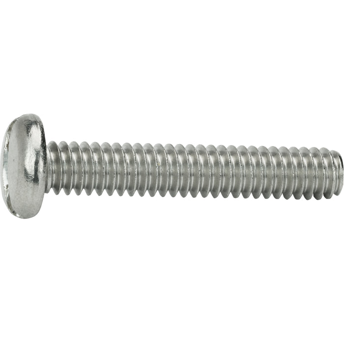 "10-32 x 2-1/4"" Slotted Pan Head Machine Screws Stainless Steel 18-8 Qty 50"