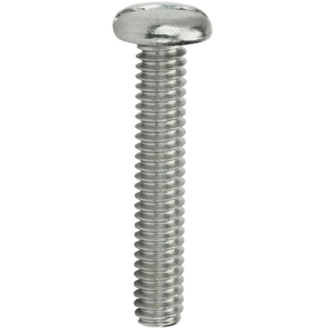 "1/4-20 x 1-3/4"" Slotted Pan Head Machine Screws Stainless Steel 18-8 Qty 25"