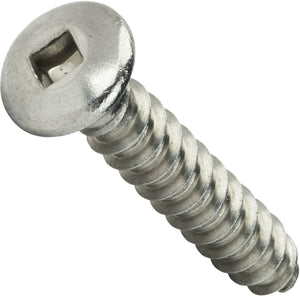 "#10 x 3/4"" Oval Head Sheet Metal Screws Square Drive Stainless Steel Qty 100"