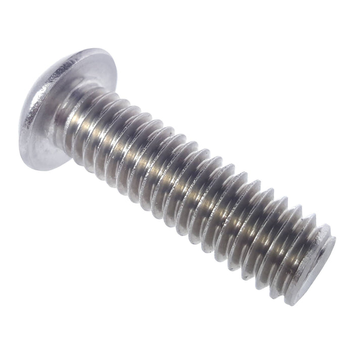"1/2-13 x 1"" Button Head Socket Cap Screws Stainless Steel 18-8 Qty 5"