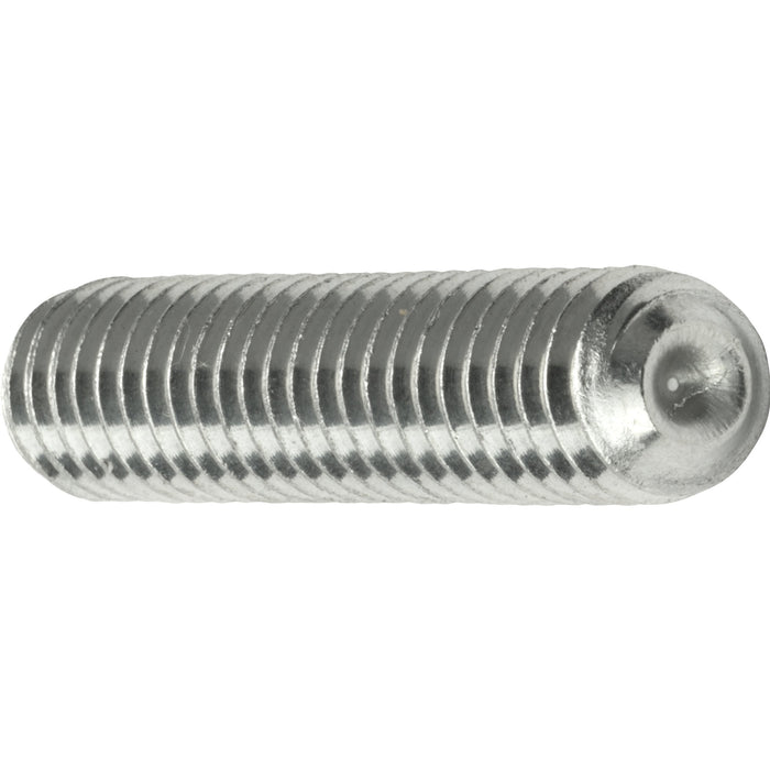 "1/4-20 x 2-1/2"" Grub Screws Allen Socket Set Screw Stainless Steel Qty 25"