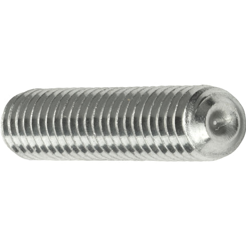 "3/8-16 x 2"" Grub Screws Allen Socket Set Screw Stainless Steel Qty 10"