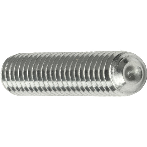 "1/2-20 x 1/2"" Grub Screws Allen Socket Set Screw Stainless Steel Qty 10"