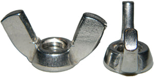 12-24 Wing Nuts Stainless Steel Grade 18-8 Quantity 50