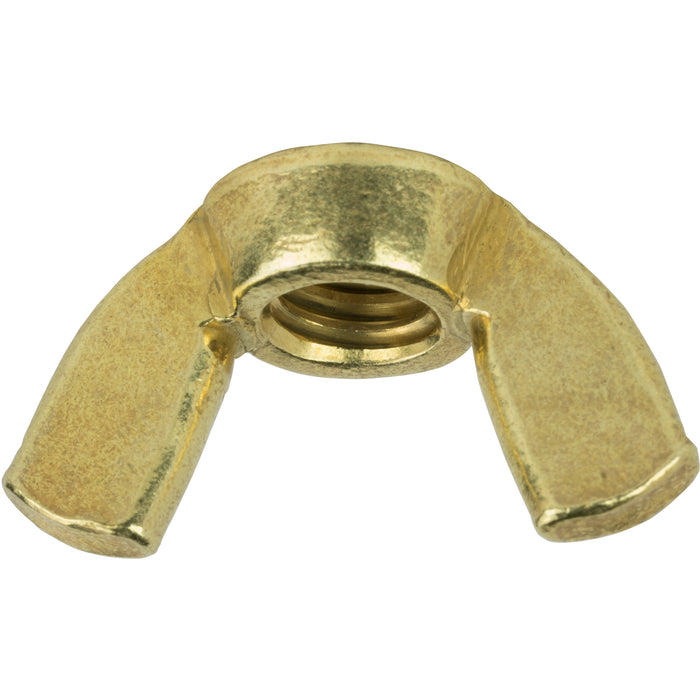 12-24 Wing Nuts, Solid Brass, Grade 360, Plain Finish, Quantity 25