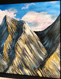 """Tetons"" Wood Landscape Art"