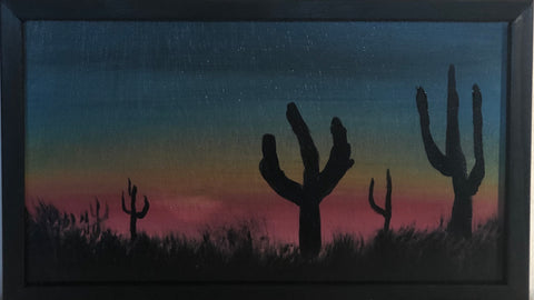 """Arizona Cactus""  Wood Art"