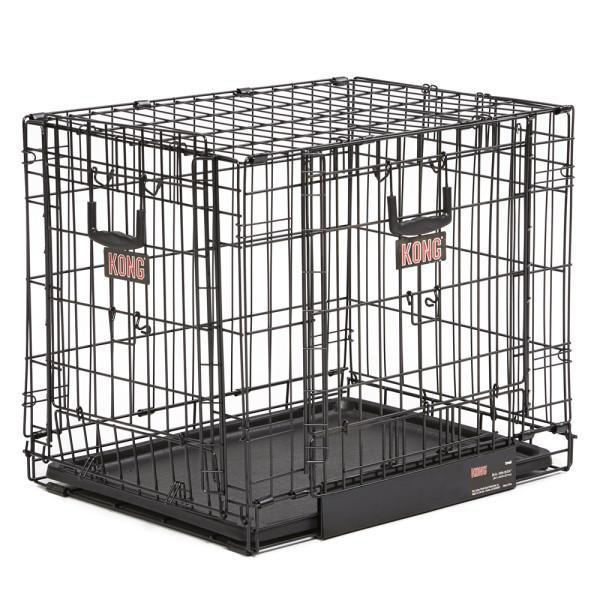 Crates & Kennels - KONG® Space Saving Double-Door Pet Crate