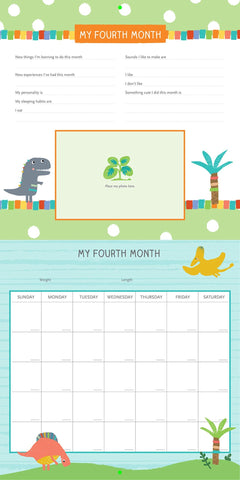 Baby's First Year Calendar - Dinosaurs