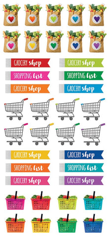 Life Organised Functional Planner Stickers - Grocery
