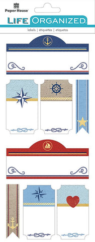 Life Organised - Nautical Label Stickers
