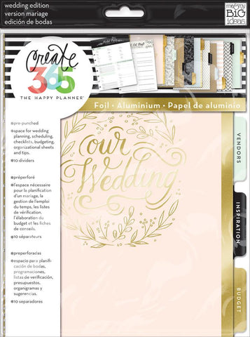 Happy Planner Classic Wedding Extension Pack