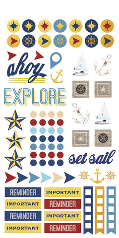Life Organised - Nautical Planner Stickers
