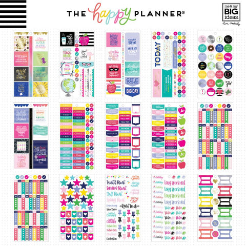 Happy Planner Big Value Sticker Pack - Sweet Life Teacher