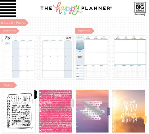 Happy Planner BIG 18 Month DATED  - Self Care