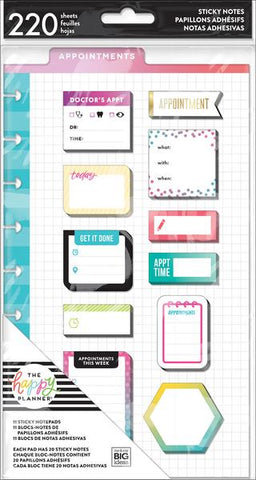The Happy Planner Classic Sticky Notes - Appointments