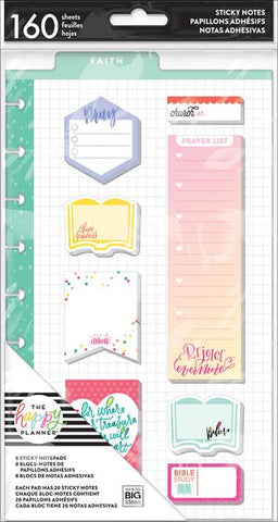 The Happy Planner Classic Sticky Notes - Faith