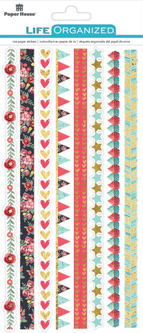 Life Organised - Everyday Moments Rice Paper Border Stickers