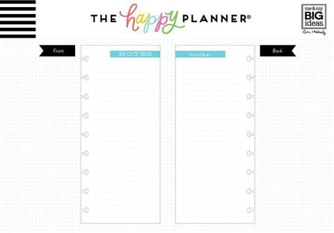Classic Happy Planner Half Sheets - Note Paper