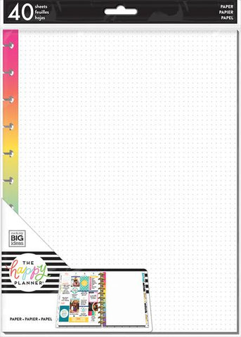 The Happy Planner BIG Fill Paper - Rainbow Dot Grid