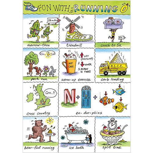 Greeting Card - Fun With Running