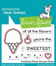 Lawn Fawn Clear Stamps Sweetest Flavor