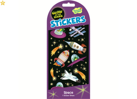Glow In The Dark - Outer Space Stickers