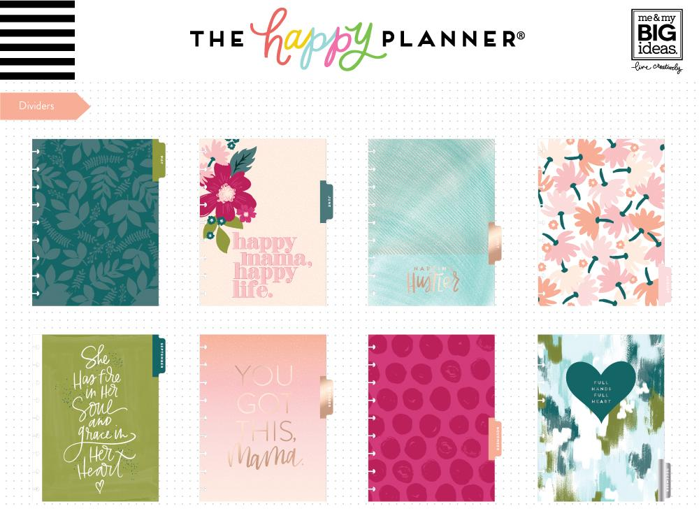 2019 Classic Happy Planner - Forget Me Not (Mom Horizontal)