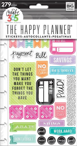 Happy Planner Classic Sticker Book - Get Paid