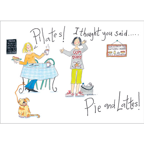 Greeting Card - Pie and Lattes