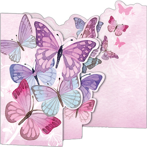 Greeting Card - Pink Butterflies