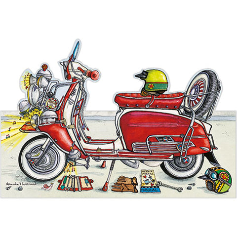 Greeting Card - Red Scooter