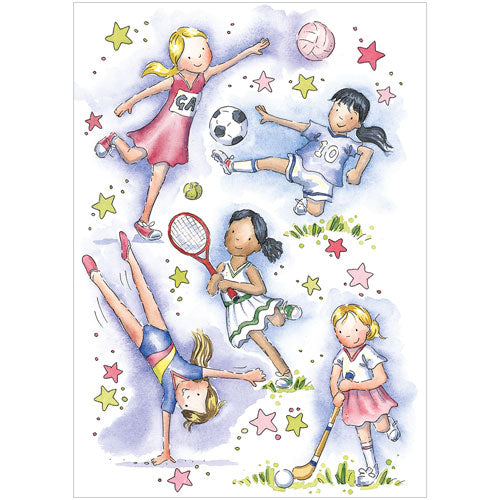 Greeting Card - Sporty Girls