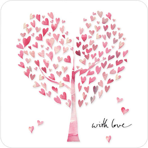 Greeting Card -  With Love Heart Tree