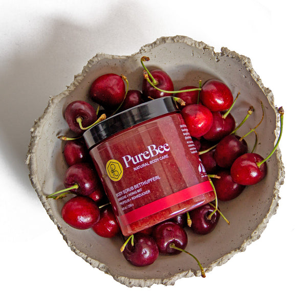 Hi, I'm a Bedthupferl - the cherry body scrub