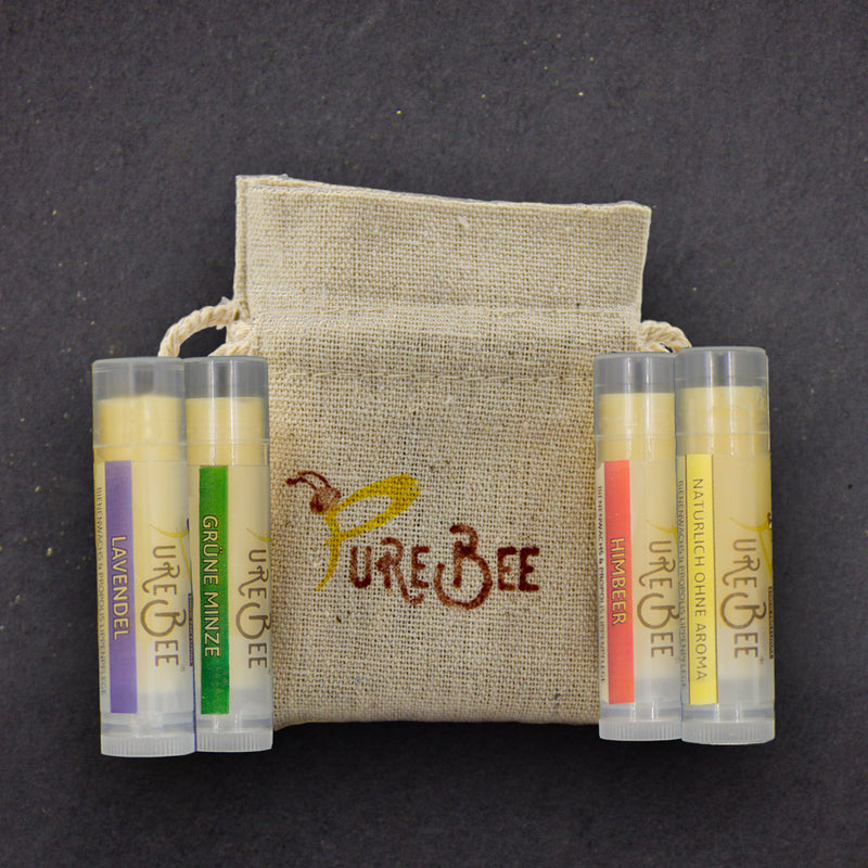 PureBee lip care 4er trial pack - PureBee Germany