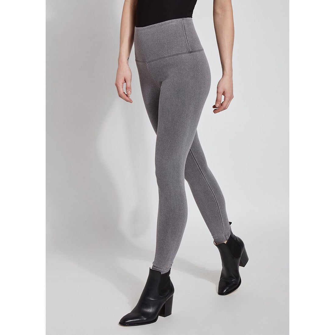 Lysse Denim Legging Grey - Fashion Crossroads Inc