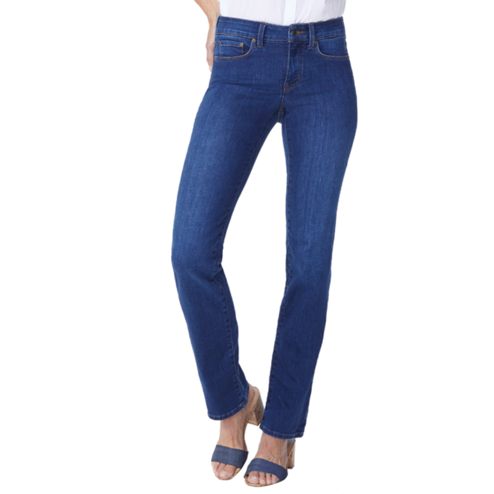 NYDJ Marilyn Straight Tummy Tucking Jean Cooper Wash - Fashion Crossroads Inc