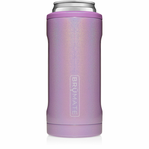 Brumate Glitter Violet Hopsulator Slim - Fashion Crossroads Inc