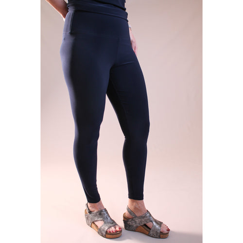 Sympli Nu Yoke Legging Navy - Fashion Crossroads Inc