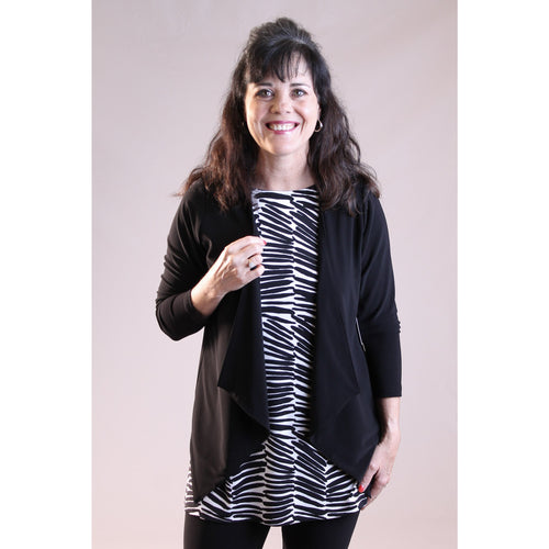 Sympli Key Cardigan in Black - Fashion Crossroads Inc