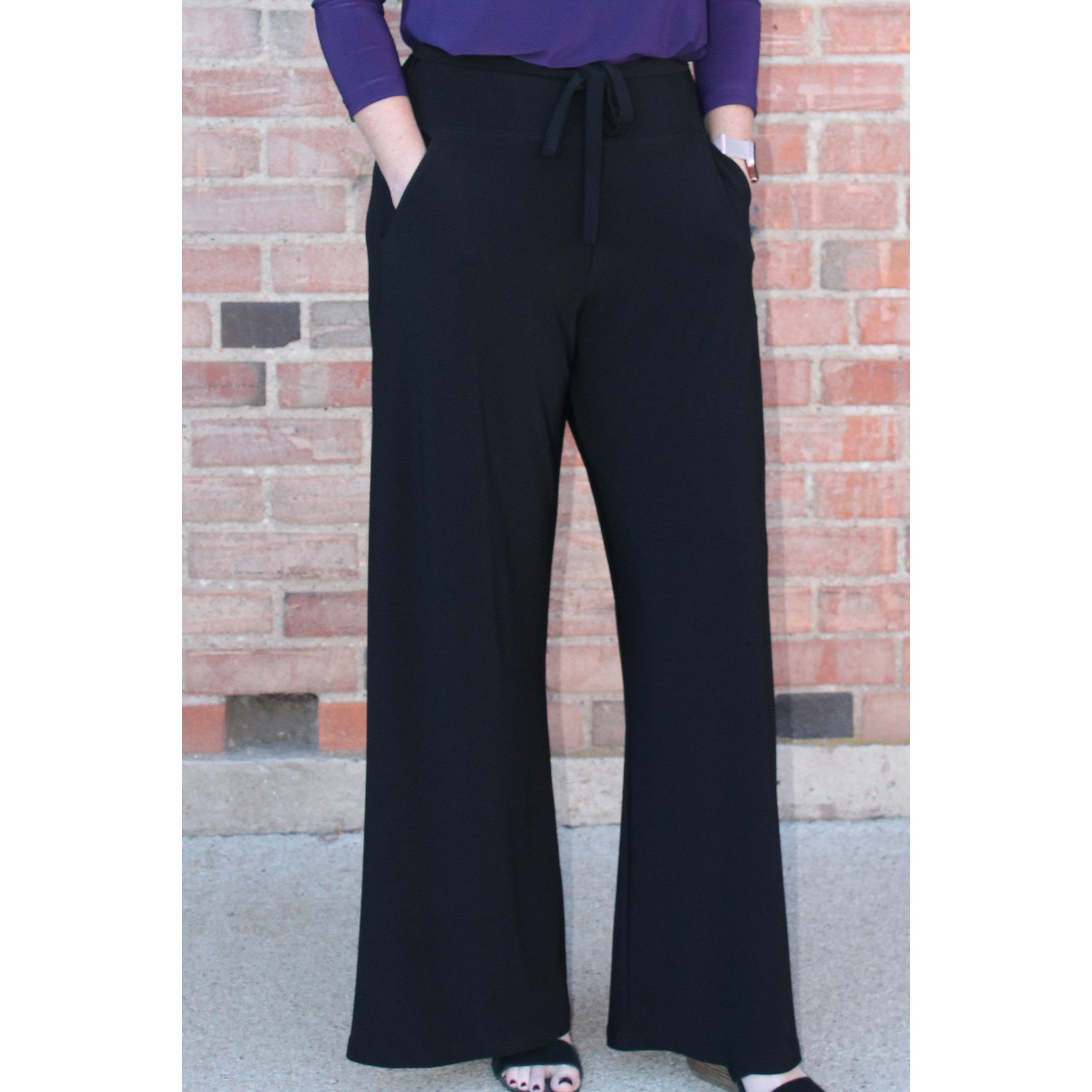 Sympli Wide Leg Trouser - Fashion Crossroads Inc