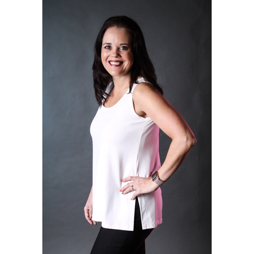 Sympli Go To Tank Relax White - Fashion Crossroads Inc