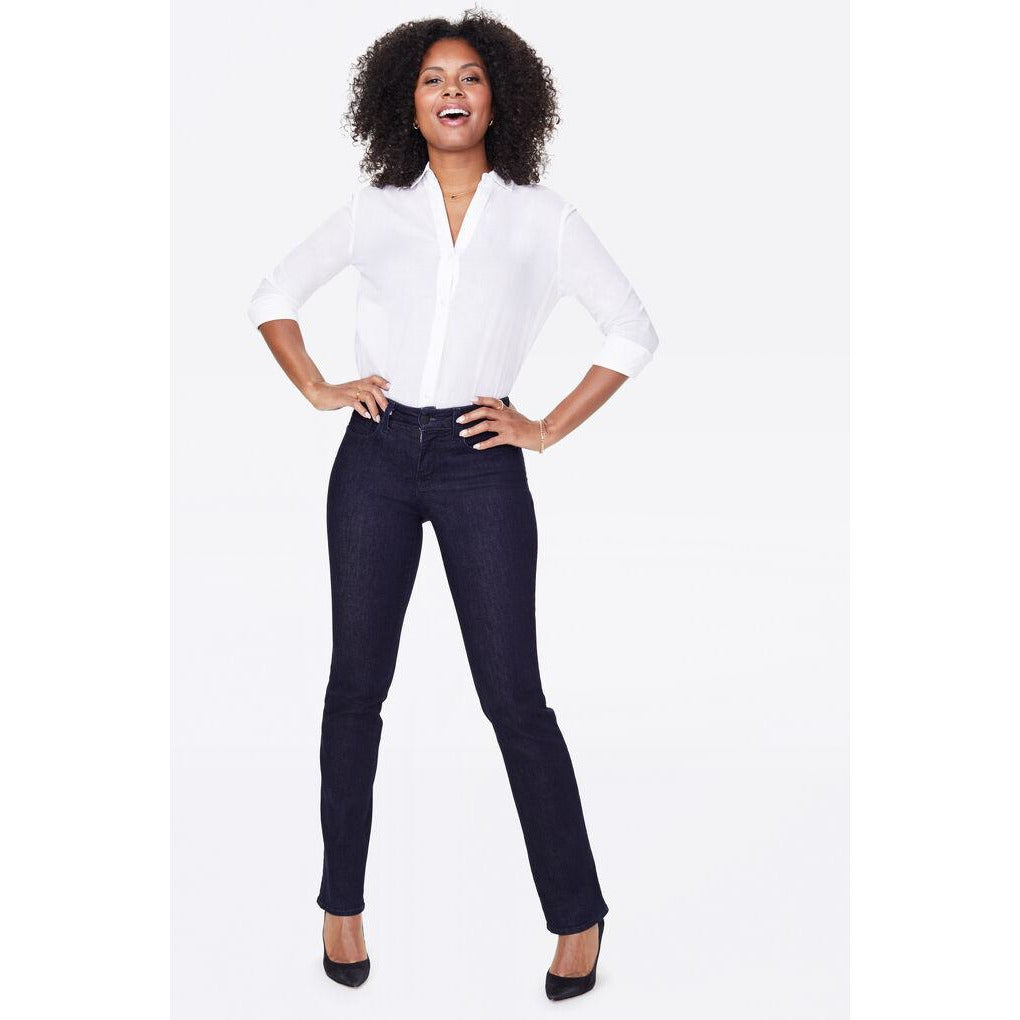 NYDJ Marilyn Straight Tummy Tucking Jean Rinse Wash - Fashion Crossroads Inc