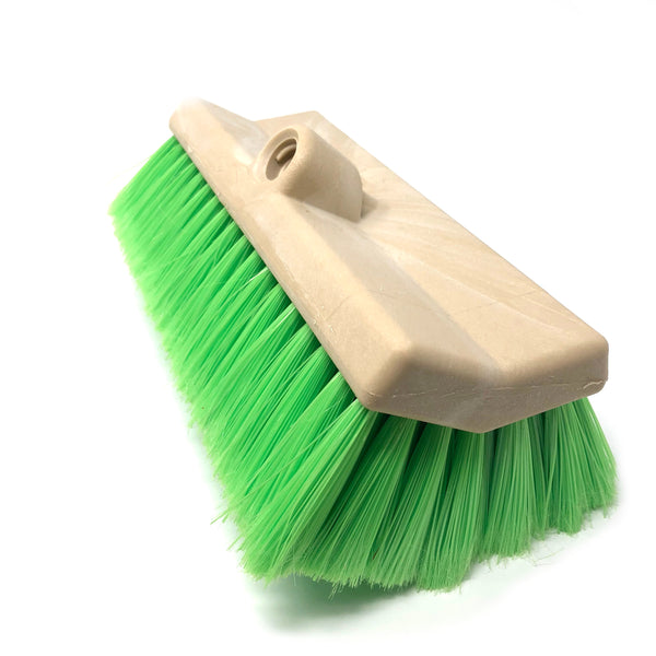 "Easy Reach 10"" Bi-Level Extra Soft Green Bristle Brush - Chem-X"